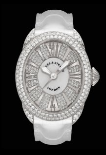 Regent 3238 White Gold - Two Rows - Mother of Pearl & Exterior Set Dial