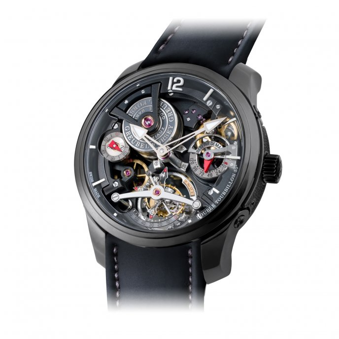 Greubel Forsey Double Tourbillon 30° Technique Black Titanium - face view