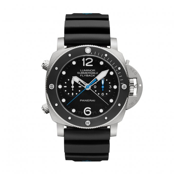 Panerai Luminor 1950 3 Days Chrono Flyback Automatic Ceramica 47 mm PAM00615 watch face view