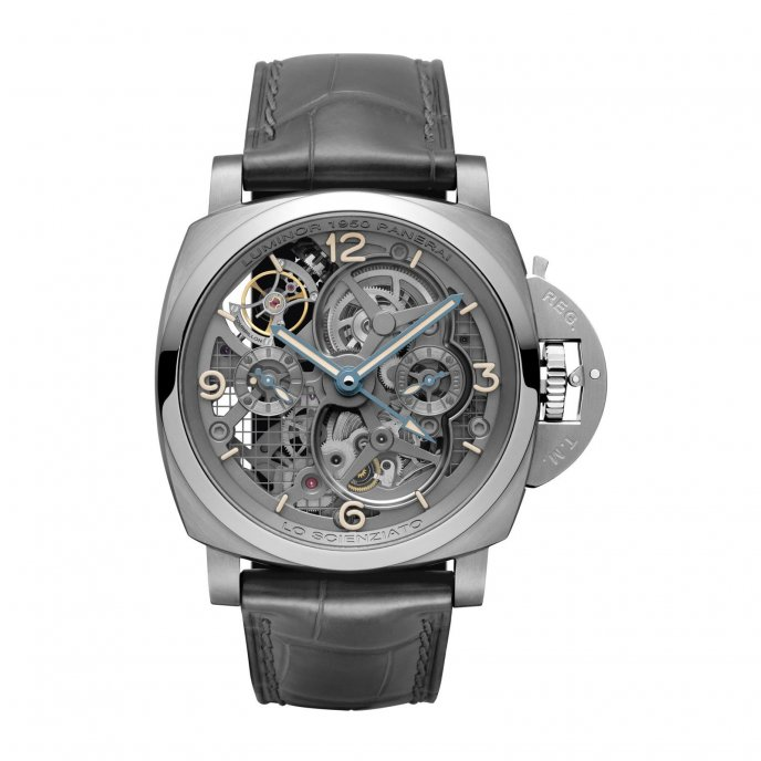 PAM00578 - Lo Scienziato Luminor 1950 Tourbillon GMT Titanio - 47mm