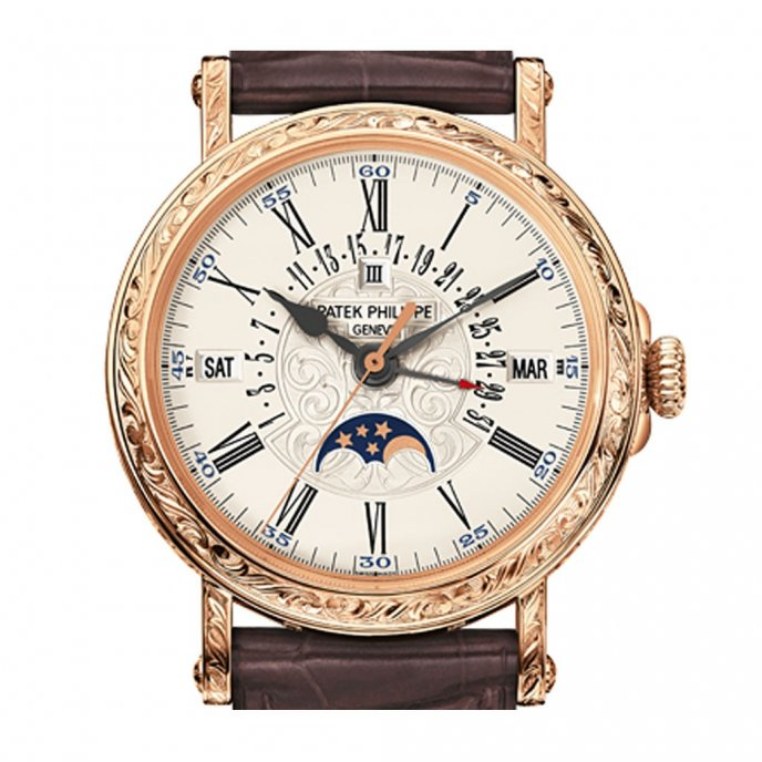 Patek-Philippe-Grandes-Complication-5160R-001-or-rose-white-dial-face-view