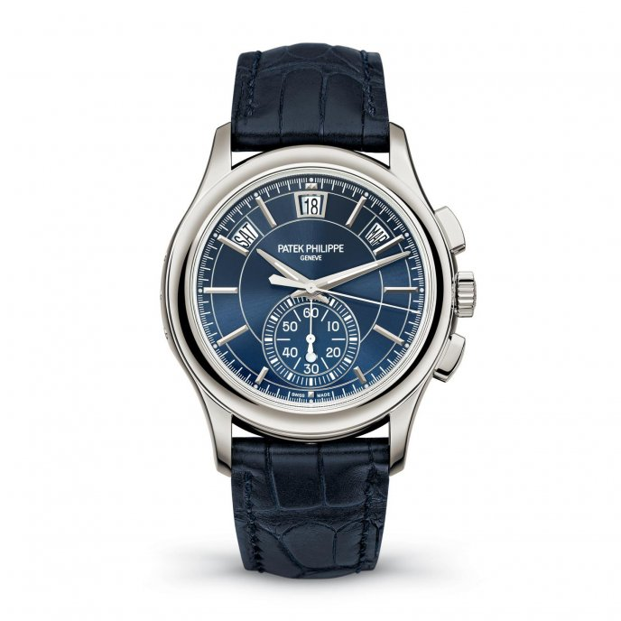Patek Philippe Complications Annual Calendar Chronograph Ref. 5905P - watch face view