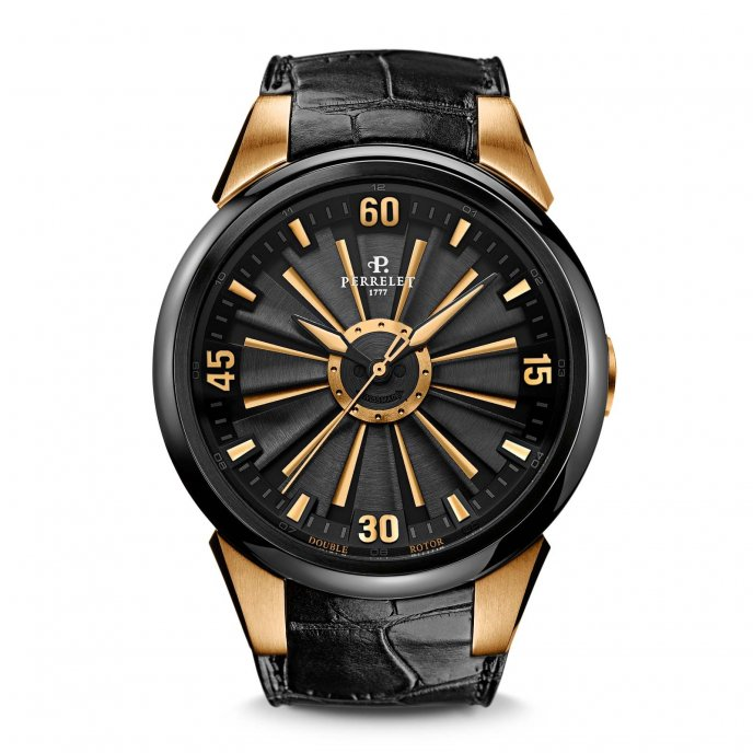 Perrelet-Turbine-Black-&-Gold-A80801-face-view