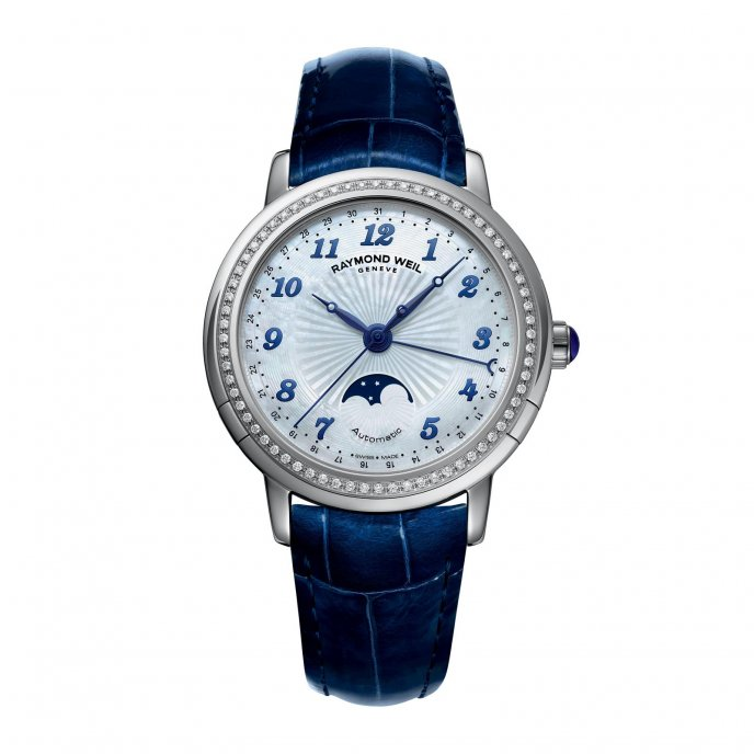 Raymond Weil Maestro Lady Phase de Lune 2739 LS3 05909 - face view