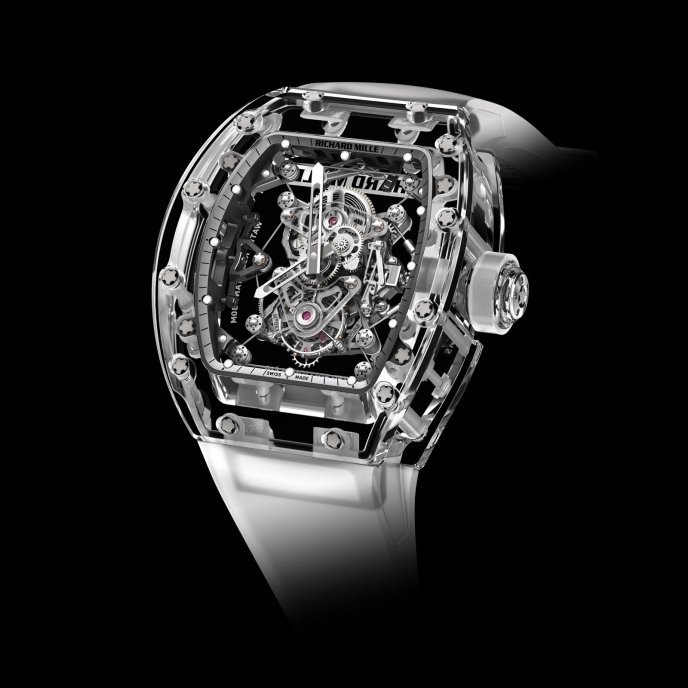 Richard Mille Tourbillon RM 56-02 Saphir Watch-face-view