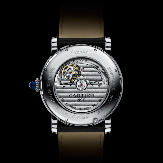 Rotonde de Cartier Annual Calendar Watch White Gold watch back view