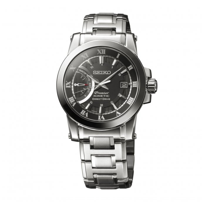 Seiko Premier Kinetic Direct Drive 5D22 SRG009 - face view