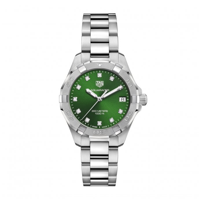 Aquaracer Ladies Green Dial