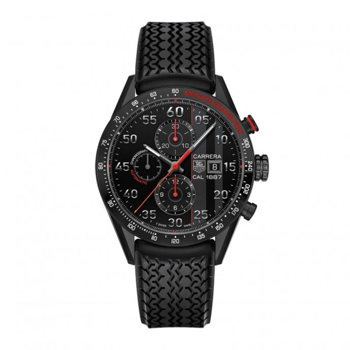 Tag Heuer Carrera 43mm Calibre 1887 Chrono Monaco Grand Prix Limited Edition Watch-face-view