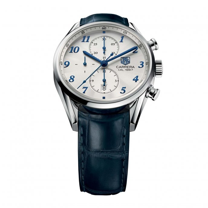 Tag Heuer Carrera Heritage Calibre 1887 Chronograph 41mm CAR2114.FC6292 - face view