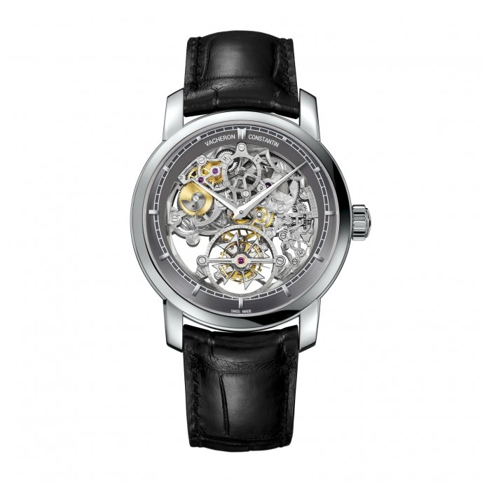 Vacheron Constantin Patrimony Traditionnelle tourbillon 14 jours squelette 89010/000P-9935 - watch face view
