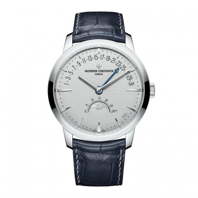 Patrimony moon phase retrograde date Collection Excellence Platine