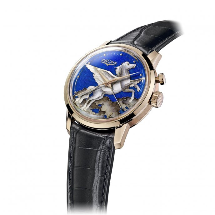 Vulcain 50s Presidents' Pegasus in the Sky 220 550.319L - watch face view