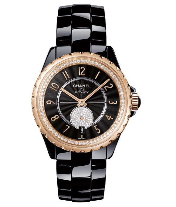Chanel-J12-365-BLACK-BEIGE-GOLD-DIAMONDS
