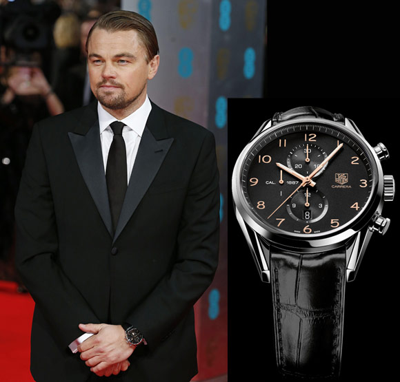 Tag heuer di caprio on the red carpet arts and culture worldtempus for Celebrity tissot watch